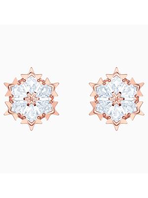 Cercei Femei MAGIC:PE CZWH/ROS Placati cu aur roz