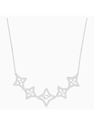 Colier Femei SPARKLING DC:NECKLACE MED STAR CZWH/CRY Placat cu rodiu