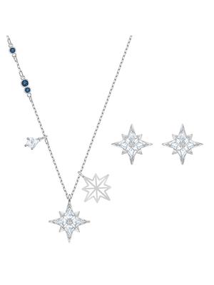 Set Symbol Star, alb, placat cu rodiu