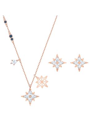 Set Symbol Star, alb, placat cu aur roz