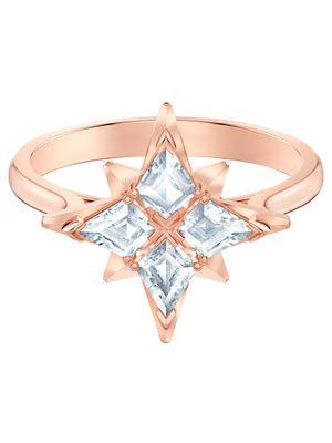 Inel Swarovski Symbolic Star, alb, placat cu aur roz