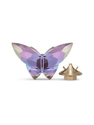 Obiect decorativ Jungle Beats - Butterfly S, mov, din cristale Swarovski