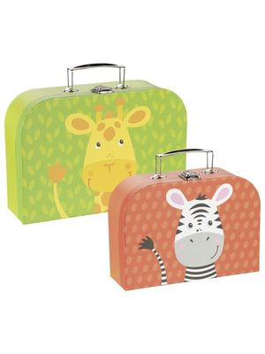 Set 2 valize pentru copii - Joc de rol - Girafa si Zebra